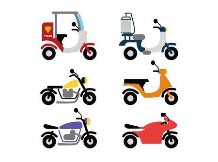Motorcycle Set Illustrations