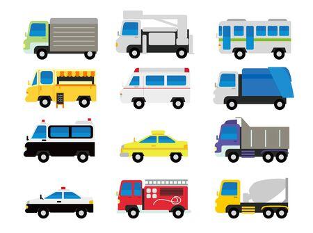 Car Illustration Set Ilustrace
