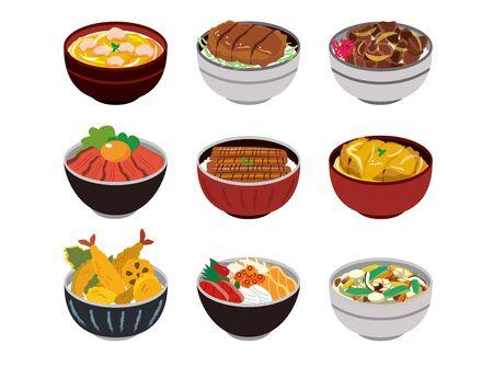 Japanese Cooking Illustration Set