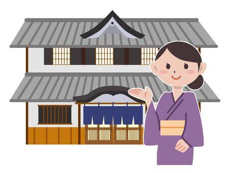 Japan ryokan Vectores