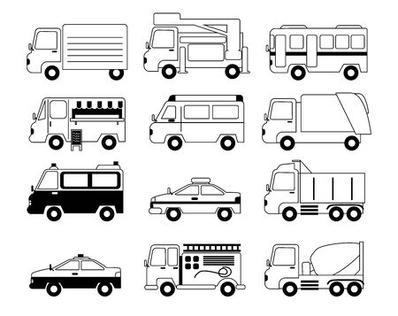 Various car illustrations