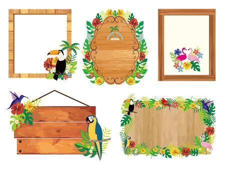 Tropical Frame Image Illustration