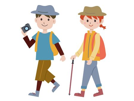 Couple illustrations to hike