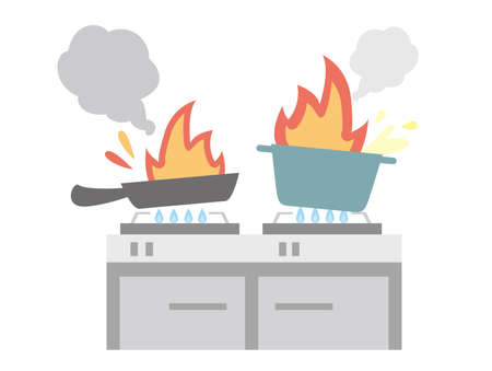 To the fire in the kitchen