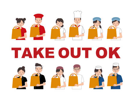 Take-out restaurant staff