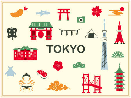 Travel illustrations in Japan
