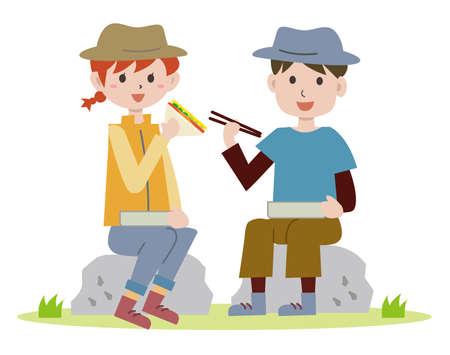 Hiking Meals Couple