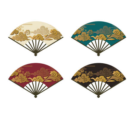 Chinese traditional fan set