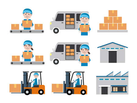 Delivery industry Material set