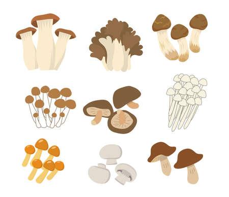 mushrooms 向量圖像