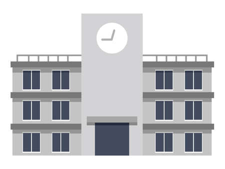 School buildings Illustration