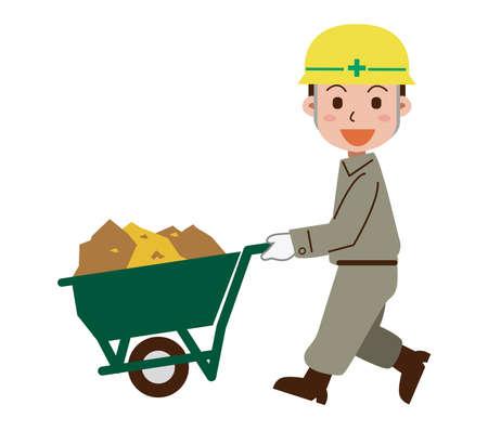 Soil carrying Civil engineering workers