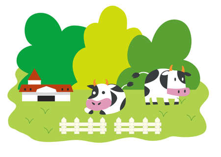 Cattle Ranch Illustrations