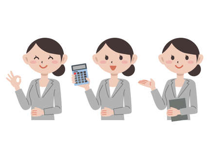 Business Young Woman Upper Body Gesture