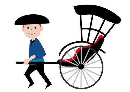 Man-car illustration