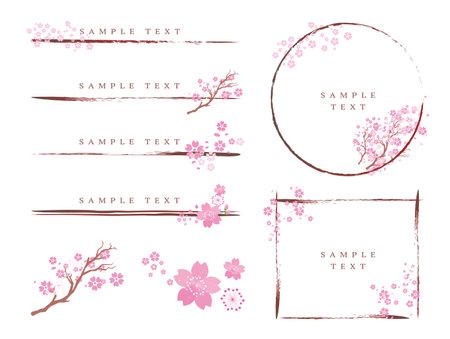 Spring Cherry Blossom Petal Frame Set