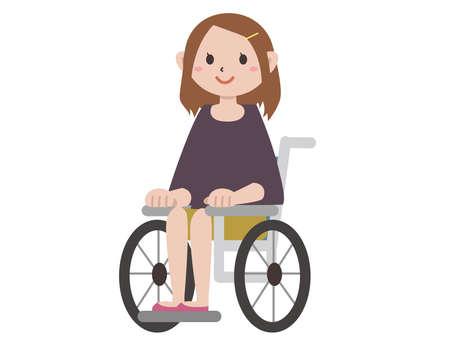 Young woman in wheelchair Vecteurs