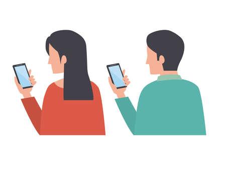 Smartphone operation Men and women