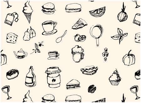 Cafe Handwritten Illustration