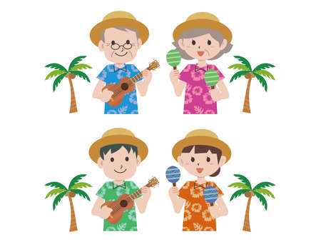 Southern Country Aloha Shirt Ukulele