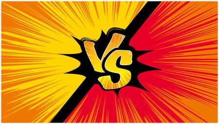 American Comic-style Showdown VS Vektorové ilustrace