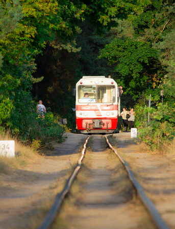 narrowgauge: Polish seaside narrow-gauge railway.  Jantar station.