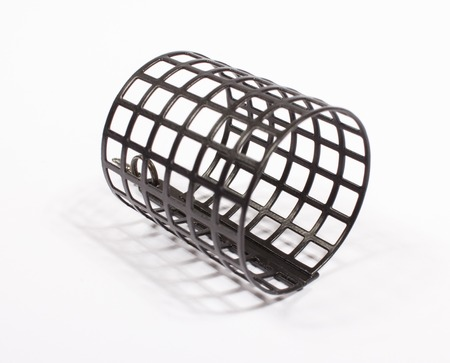 sinkers: Wire feeder designed for bottom fishing for trophy fish. Stock Photo