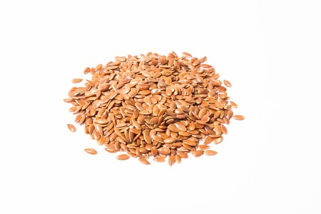 flaxseed: flaxseed isolated on white background close up Stock Photo