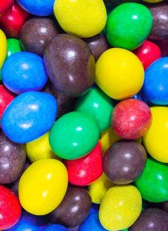 Close Up of colorful sweet candies. Stock Photo