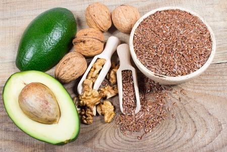 omega: Sources of omega 3 fatty acids.