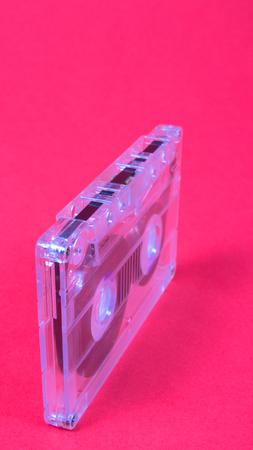 70s disco: Close up of the vintage audio cassette.