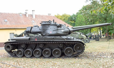 patton: Poznan, Poland. October 1, 2016. View of the American tank -Patton M-47 .