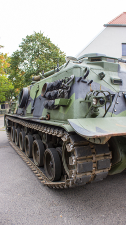 patton: Poznan, Poland. October 1, 2016. View of the American -Patton M-88, armored recovery vehicle. Editorial