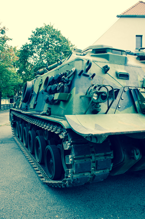 patton: Poznan, Poland. October 1, 2016. View of the American -Patton M-88, armored recovery vehicle. Stock Photo