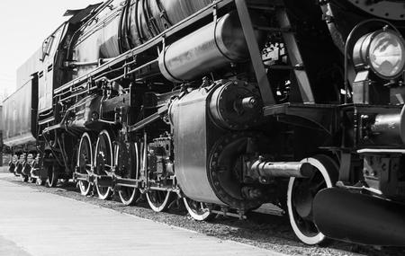 Locomotiva a vapore con tenero . Dettagli .