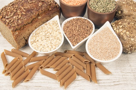 Products containing complex carbohydrates. A source of energy, vitamins and fiber. Reklamní fotografie