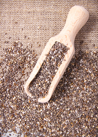 Chia seeds - a dietary supplement containing a large amount of fiber, omega-3 fatty acids and unsaturated fats.
