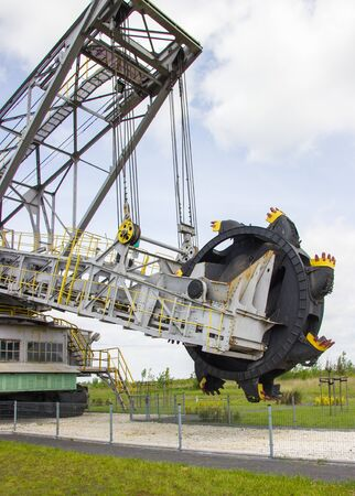 Brown coal excavator SchRs-315. Opencast brown coal mine.