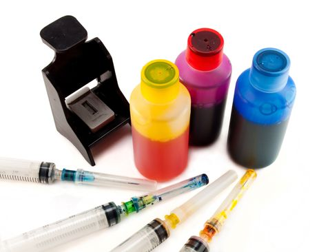 refill: a set of ink for refilling inkjet printers