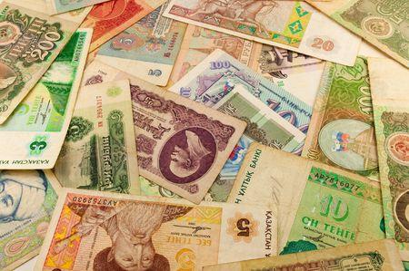 Geld Hintergrund der alten Banknoten