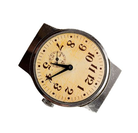 old watch isolated on white background Stock Photo