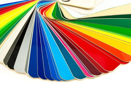 detailed color catalog samples adhesive film on a white background