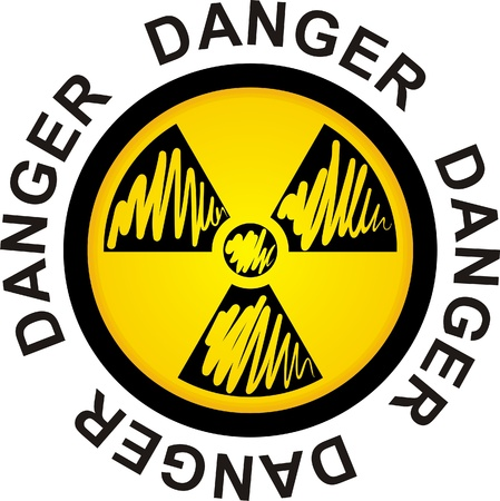 symbol to radiation, danger sign, illustration Stock Vector - 9535607