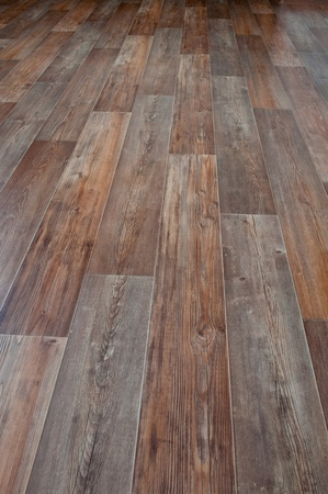 Linoleum, floor covering, imitation wood Stock Photo