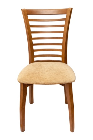 New Wooden chair isolated on white background