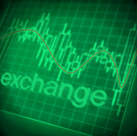 green stock exchange graph, abstract background photo