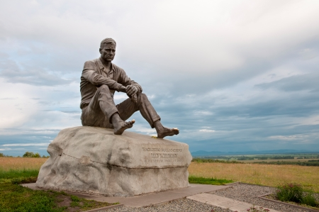 screenwriter: monument on Mount Picket - sculpture Vasily Shukshin