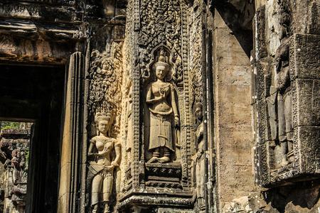 Cambodia Siem Reap Thommanon Apsara stone carving