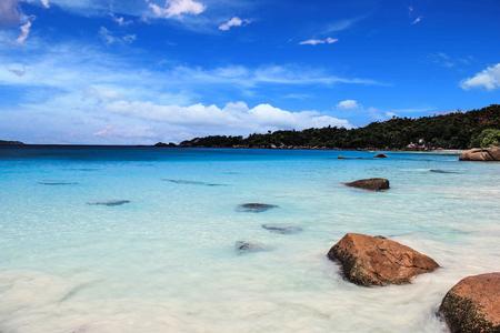Seychelles Praslin Anse Lazio Beach Stock Photo