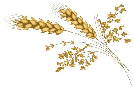 麦の穂は様式化されました。